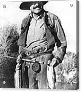 Ernest Hemingway Fishing Acrylic Print
