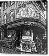 Ernst Roebers Saloon - Manhattan - 1908 Acrylic Print by Daniel Hagerman
