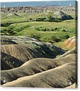 Eroded Landscape Badlands Np Acrylic Print