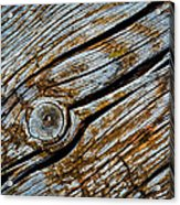 Eroded Old Wooden Board Acrylic Print
