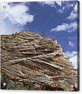 Eroded Sandstone Zion Np Utah Acrylic Print
