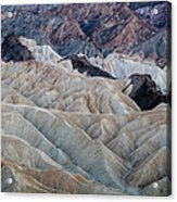 Erosional Landscape - Zabriskie Point Acrylic Print