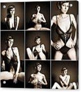 Erotic Beauty Collage 14 Acrylic Print