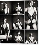 Erotic Beauty Collage 15 Acrylic Print