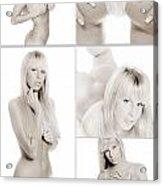 Erotic Beauty Collage 18 Acrylic Print