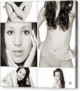 Erotic Beauty Collage 28 Acrylic Print