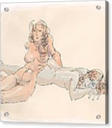 Erotic Drawings 18 Acrylic Print
