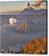 eruption at Gunung Bromo Acrylic Print
