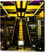Escalator Lights Acrylic Print