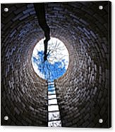 Escape Acrylic Print by Tom Druin