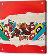 Escaping The Mayan Underworld Acrylic Print