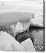 Eskimo Boys Ice Fishing Barrow Alaska  July 1969 Acrylic Print