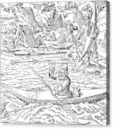 Eskimos Hunting, 1580 Acrylic Print