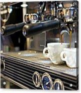 Espresso Machine Pouring Coffee Into Acrylic Print