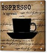 Espresso Madness Acrylic Print