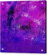 Essay Star Pink Blue Acrylic Print