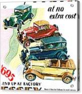 Essex Challenger Vintage Poster Acrylic Print