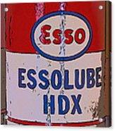 Esso Can Acrylic Print