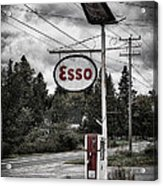 Esso Sign And Pump Acrylic Print