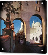 Esther Henderson Photo Back North Entrance  Of San Xavier Mission Tucson Arizona 1957-2013  Acrylic Print