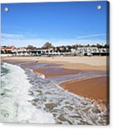 Estoril Beach In Portugal Acrylic Print