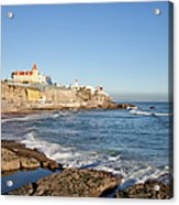 Estoril Coastline In Portugal Acrylic Print