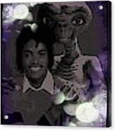 Et And Michael Jackson Photo  Acrylic Print