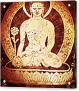 Etched Buddha  Acrylic Print