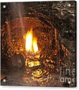 Eternal Flame Cave Acrylic Print