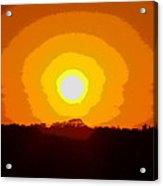 Eternal Sun - Amazing Sunset Photograph - Painting Like Acrylic Print