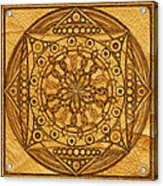 Eternity Mandala Leather Acrylic Print