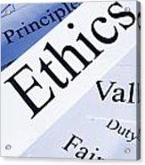 Ethics Concept Acrylic Print