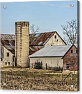 Ethridge Tennessee Amish Barn Acrylic Print by Kathy Clark