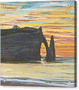 Etretat. Cliff Of Aval Acrylic Print