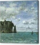 Etretat The Porte D'aval Acrylic Print by Eugene Boudin