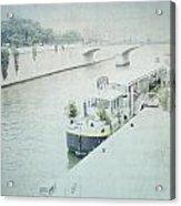 Letters From L'eau - Paris Acrylic Print