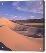 Eureka Dunes In Death Valley  Acrylic Print