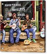 Eureka Springs Novelty Shop String Quartet Acrylic Print