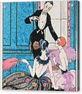 'europe' Illustration For A Calendar For 1921 Acrylic Print by Georges Barbier