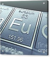 Europium Chemical Element Acrylic Print