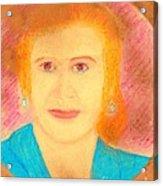 Eva Peron Orange Acrylic Print