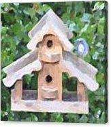 Evans's Birdhouse - Oil Paint Acrylic Print
