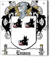 Evans Coat Of Arms Irish Acrylic Print