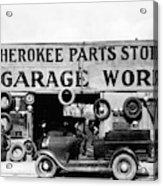 Evans Garage, 1936 Acrylic Print