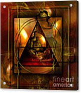 Eva's Guilt And Adam's Love Acrylic Print by Franziskus Pfleghart