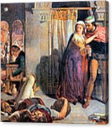Eve Of Saint Agnes The Flight Of Madelein The Drunkenness Attending The Revelry Acrylic Print