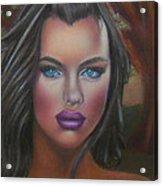 Eve Was Framed Feat Irina Shayk Acrylic Print by D Rogale