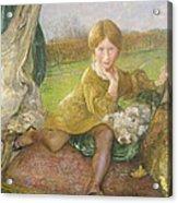 Evelyn Acrylic Print by Annie Louisa Swynnerton