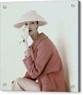 Evelyn Tripp Wearing Pink Acrylic Print
