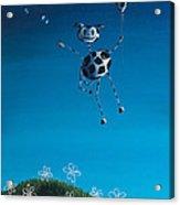 Even Cows Have Strange Dreams By Shawna Erback Acrylic Print by Shawna Erback